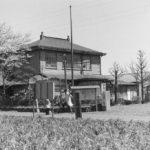 春の国立町役場 1959(昭和34)年頃(写真:くにたち郷土文化館蔵)